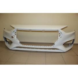 Бампер передний Hyundai Solaris (Солярис) (17+) Белый