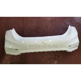 Бампер задний Hyundai Solaris (Солярис) (17+) Белый
